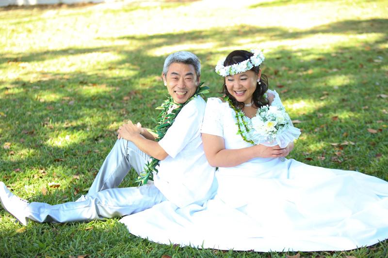 シニアの結婚記念日ハワイウェディング撮影